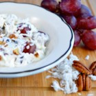 Grape and Coconut Salad - Grapes and coconut are folded into a creamy fat-free dressing creating a light and refreshing salad perfect for picnics.