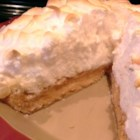 Peanut Butter Meringue Pie - Peanut butter filling is topped with a glossy, light meringue in this peanut butter meringue pie recipe.