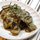 Mushroom Cream Gravy Sauce - Creamy mushroom gravy made without flour is a gluten-free addition to the holiday table or as a topper for pasta.