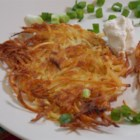 Mom's Potato Latkes - This traditional Hanukkah dish of potato pancakes is tasty at any time of year.