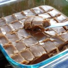 Gramma's Easy Peanut Butter Fudge - Milk, brown sugar, margarine, peanut butter and vanilla are the only ingredients in this easy fudge.