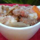 Tammy's Irish Stew - Potatoes, carrots, and parsnips are simmered until they fall apart in this thick, vegetable stew with bits of beef throughout.