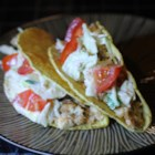 Spicy Fish Tacos with Fresh Lime Sauce - Kid pleasing and fast, these fish tacos are a delicious and refreshing dinner!
