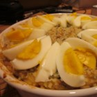 Curry Tuna and Rice Casserole - A childhood favorite of rice and tuna mixed with a curry twist.