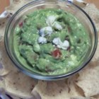 Sheila's Greek Style Avocado Dip - A tasty blend of Greek salad and Mexican guacamole flavors make this a different and delicious dip for an afternoon snack or party appetizer as well!