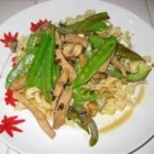 My Fly Stir-Fry - My mom taught me how to make this very tasty stir-fry. My boyfriend loves it so much I make it at least once a week! You can use virtually any combination of vegetables and meat you like, but the combination of sauces is essential. Serve over steamed rice or noodles.