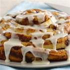 Giant Cinnamon Roll - Bake this delicious layered roll for breakfast made using Pillsbury(R) Grands!(R) refrigerated cinnamon rolls with icing--ready in 45 minutes.