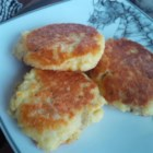 Homemade Hashbrowns -  This is a great recipe for leftover mashed potatoes and so easy. Just add egg, onion and seasoning and cook thick patties in a frying pan until brown and crusty on both sides. Good with chunky applesauce on the side.