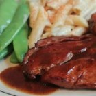 Ham with Red Eye Gravy - Red eye gravy is a traditional Southern gravy made with black coffee and pan drippings. Served over smoky, salty ham, it's a surprising flavor combination.