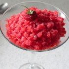 Fresh Strawberry Granita  - A simple Italian dessert ice has just a few ingredients and brings you the pure, fresh taste of sweet strawberries to refresh you on the hottest of days. Garnish with a sprig of spearmint or a beautiful fresh strawberry.