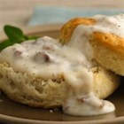 Unbeatable Sausage Gravy and Biscuits - Make this Southern favorite extra-easy with only six ingredients.