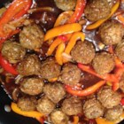 Oh So Easy Sweet and Sour Meatballs - This is a quick and easy weeknight dish completed quickly through the use of frozen mixed vegetables and prepared fully-cooked meatballs.