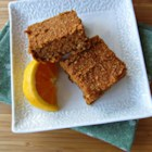 Pumpkin Oat Bars - Deliciously spiced pumpkin bars are given a new twist with the addition of quick-cooking oats