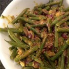 Green Bean Curry - Fresh green beans are simmered in coconut milk with a variety of seasonings for a delicious side dish or as a vegetarian entree when served with rice.