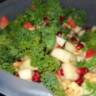 The Talk of the Potluck Kale and Apple Salad - This quick and easy kale and apple salad is ready in less than 30 minutes and will be the talk of the potluck, even among the kids!