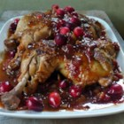 Cranberry BBQ Chicken - A great way to make everyone's favorite chicken even more fun--bake the chicken with your favorite bottled barbecue sauce and a can of cranberries.