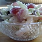 Harvest Slaw - Grapes, feta, and toasted pecans are the unique ingredients in this coleslaw. You can increase the amount of mayonnaise or Ranch dressing if you prefer a creamier slaw.
