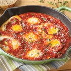Nana's Eggs from Contadina(R) - Eggs are simmered in an herb-infused tomato sauce and served with grated Parmesan cheese for a quick and delicious lunch or light dinner.