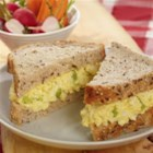 Simply Egg Salad - A classic egg salad sandwich hits the spot on many occasions. You can serve it on your  favourite sliced bread or buns, toasted or plain. It's always a sandwich to enjoy. Great for  picnics, too!