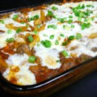 Miles of Mozzarella Baked Mostaccioli - Mostaccioli pasta is baked with a hearty meat sauce and miles of mozzarella cheese for a cheesy, Italian-inspired meal.