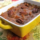 Sweet Potato Eggnog Casserole - Delicious holiday flavors in an easy dish.
