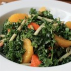 Chef John's Raw Kale Salad - If you slice kale thin and toss it with other tasty treats like apple, persimmon, orange, and nuts, the kale mellows out and serves as a perfect foil for other vegetation.