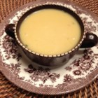 Marian's Pumpkin Soup - This fresh pumpkin soup seems straightforward since it's made with the standards-- fresh sugar pumpkin, onions, curry powder, garlic, light cream, and chicken stock--but there's also a tasty, surprise ingredient: peanut butter!