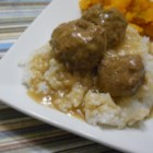 Mum's Swedish Meatballs - Swedish meatballs covered in a rich sherry gravy are a crowd-pleasing dish everyone in the family will request for special occasions. Serve with rice.