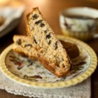 Cherry Almond Biscotti - Dried cherries, amaretto liqueur, and chopped blanched almonds add their flavors to these elegant biscotti. Serve with glasses of dessert wine and cups of espresso or cappuccino for dipping.