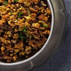 Sausage and Herb Stuffing - Chunks of chicken sausage add loads of flavor to this classic bread stuffing with sage.