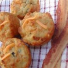 Bacon Cheddar Chive Muffins - Mmm!!! I took care in making these into a perfect combination of flavors. A great muffin for breakfast, brunch, lunch, with soup or for a tasty snack. In our home they're gobbled up fast! Everybody LOVES these - you will too!