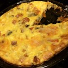 Quiche with Leeks, Mushrooms and Sweet Potatoes - This crustless vegetarian quiche with leeks, mushrooms, and sweet potatoes is seasoned with thyme and makes a great breakfast or main dish for any meal.