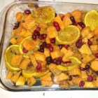 Sweet Potato Cranberry Bake - The Thanksgiving staples, yams and cranberries, come together to make a sweet and tart side dish.