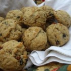 Applesauce Raisin Cookies II - Spicy drop cookies with raisins and walnuts. A great energy booster.
