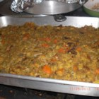 Oyster Stuffing - Oyster stuffing. This recipe makes enough stuffing to stuff a 10 to 12 pound turkey. Originally submitted to ThanksgivingRecipe.com.