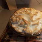 Rhubarb Meringue Pie - This pie has a sweet and creamy rhubarb custard filling topped with fluffy white meringue.