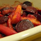 Purple Beet, Carrot, and Onion Medley - Purple beets, purple carrots, and red onion are roasted together creating a colorful vegetable trio that complement each other quite nicely.