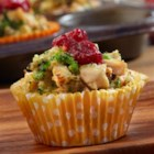 Mini Chicken and Stuffing Cups - Delight your family with these delicious mini chicken and stuffing cups baked in a muffin-pan! Each is filled with a fabulous combination of chicken, stuffing, cream of chicken soup, Cheddar cheese and cranberry sauce. You won't be able to resist the incredible flavor, and best of all, they're on the table in just 40 minutes!