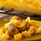Cheeseburger Mac and Cheese - Looking for a casserole that will earn rave reviews? Look no further . . . pasta, Cheddar cheese soup, milk, Cheddar cheese and meatballs combine for a family-friendly casserole that's loaded with flavor. It's easy, delicious and on the table in just 45 minutes.