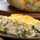 Shortcut Alfredo Lasagna - In the mood for lasagna? Try this creative skillet version featuring cooked chicken, frozen cheese ravioli, fresh broccoli, cream of mushroom soup, mozzarella and Parmesan cheese. It's an easy and delicious way to enjoy all the wonderful flavors of lasagna without all of the work.