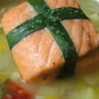 Valentine's Salmon - This really produces a fantastic piece of salmon, and when paired with a simple potato and leek chowder, would make a terrific Valentine's dinner idea.