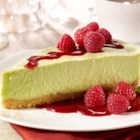 Avocado Cheesecake with Walnut Crust - Creamy avocados bring color and rich flavor to this delicious cheesecake on a walnut and anise-seed crust.