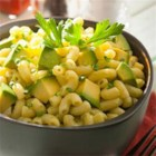 Avocado Mac and Cheese - Avocado adds extra creaminess to this zesty, reduced-fat mac & cheese with chili powder, lime juice and chives.