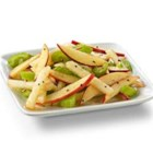 Crunchy Apple Cinnamon and Pear Salad with Truvia(R) Natural Sweetener - Crisp, crunchy apples, pears and celery are sprinkled with a tart cinnamon dressing for a salad as unique as it is easy. Contains 25% fewer calories and 65% less sugar than the full-sugar version.