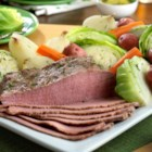 Campbell's Corned Beef and Cabbage - This traditional Irish dish features corned beef slowly simmered with onions, potatoes, carrots, cabbage, beef broth and beer. The result is a mouthwatering meal that everyone will love!