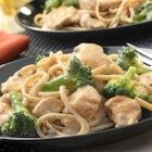 Whole Wheat Pasta Alfredo with Chicken and Broccoli - Chicken, broccoli and whole wheat linguine are perfectly paired with a creamy sauce. Plus, it takes just 25 minutes to have this incredibly delicious dinner on the table!