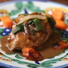 Chicken Simmered in Poblano Cream - Roasted poblano chiles can range from mild to extra spicy in flavor but are always delicious. Succulent pan-browned chicken, the deep richness of mushrooms and the sweet flavors of caramelized carrot and onion create the perfect balance when paired with hot, roasted poblano chiles.