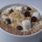 Campfire S'Mores Latte - Chocolate, marshmallow topping, and espresso are mixed with warm milk and topped with graham cracker crumbs creating a s'mores latte.