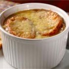 Fall French Onion Soup - This is an awesome autumn twist on the traditional French Onion soup.  Apple cider and brandy make it a cozy dish for those chilly fall afternoons.