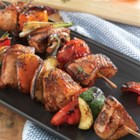 Make-It-Mine Pork Kabobs - Entertaining just got more delicious. These grilled pork kabobs are tender, juicy and so easy to customize with your favorite combination of herbs and vegetables.